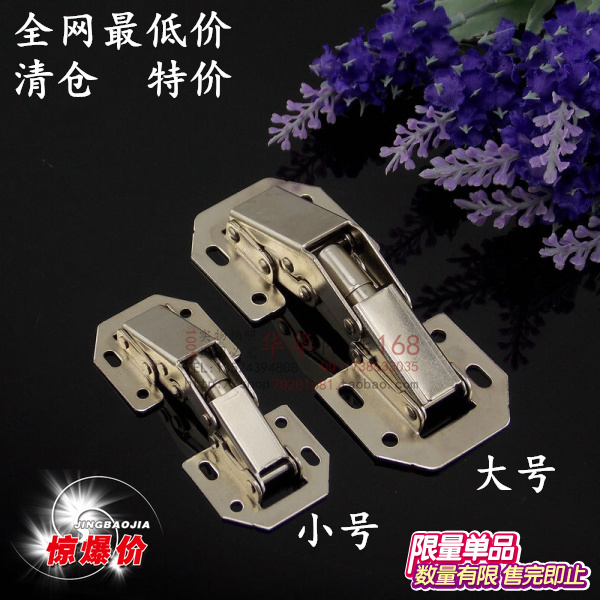 Explosion models thick cabinet door hinge hinge marbles old bridge surface mounted door hinge hinge Free opening specials(China (Mainland))
