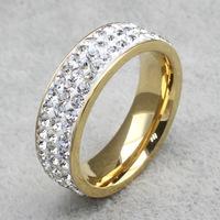 European and American jewelry titanium steel Rhinestone ring full of mud stuck rings wholesale female models R-029