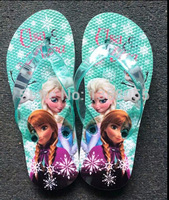 NEWEST Fashion Frozen Slippers Princess Anna Elsa Flip-Flops Children Frozen sandals kids Frozen beach shoes Girls Slippers