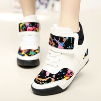 %100 High Quality Casual heavy-bottomed platform shoes Height increasing Waterproof PU Women single shoes