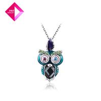 D&Z  Austrian crystal platinum necklace owl  fashion necklace series