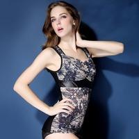 New Winter Thermal Underwear Flower Jacquard Corsets Shapewear Tops Body Shaper Women Thicken Warm Clothing