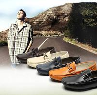 2014 Free shipping brand men loafers men platform moccasins men flat leather doug shoes casual slip on walking shoes casual