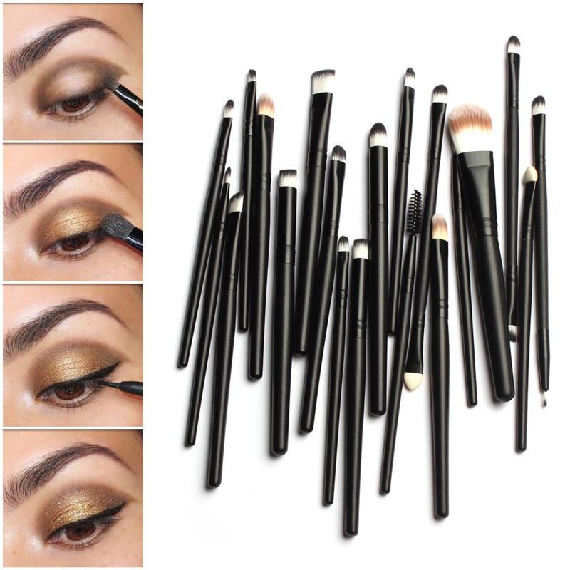 Pro Makeup 20Pcs Brushes Set Powder Foundation Eyeshadow Eyeliner Lip Brush Tool(China (Mainland))