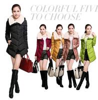 2014 Fashion New  Beautiful Super Warm Plus Size Fur Collar Women Winter Coats YFZ13