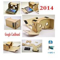 2014 GOOGLE 100% ORIGINAL CLONE CARDBOARD VR TOOLKIT with NFC TAG