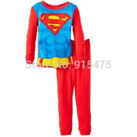 New Arrival Superman Children's wear baby 100% cotton Pajamas Children Pyjamas Baby Girl Boys Sleepwear clothing 6set/lot