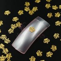 500pcs/LOT 4x5mm Mini Golden Crown Slice Craft Metallic DIY 3D Decoration Wholesale Salon Acrylic Nail Art Manicure Supplies