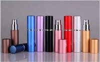 Perfume bottle 6ml Aluminium Anodized Compact Perfume Atomiser fragrance glass scent-bottle 5pc/lot