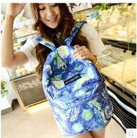 women Cosmic pattern school bag for girls backpack backpacks  travel casual-bag female desigual woman blue school canvas bags