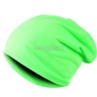 Hot Sale 2014 New Fashion Winter Men Women Solid Color Elastic Hip-Hop Cap Beanie Hat Slouch 9 Colors One Size NV168
