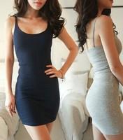 2014 Summer dress Sexy fashion Women Spaghetti Strap Bodycon Bottoming Dress Vestidos