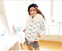 Hot Sale New 2014 Women Winter High Quality Short Print Slim Fur Collar Thick warm Full Sleeve Cotton- Padded Outwear Coat LJ316