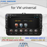 8inch Pure Android 4.2 car DVD for Volkswage MAGOTAN/CADDY/PASSAT/SAGITAR/GOLF/TIGUAN/TOURAN/JETTA/SKODA/SEAT/CC/POLO