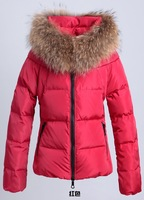 2014  High Quality Large Raccoon Fur Collar Duck down jacket Women's Jacket for winter down coat Duck Down Free Shipping