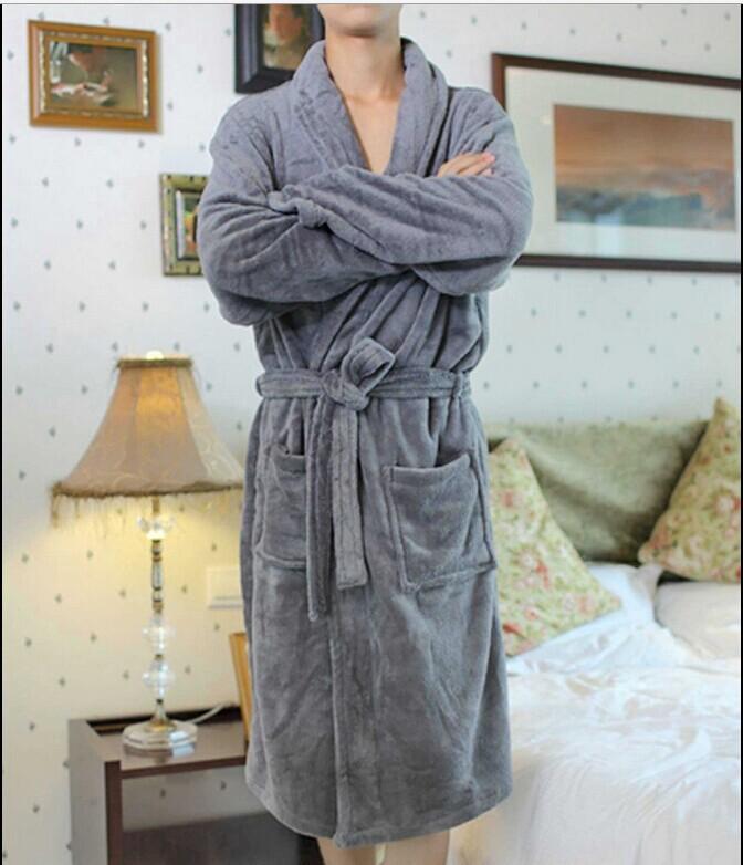 Мужская женщины и мужчины ватки свободно пижамы халаты халат спа # 8 цветов
