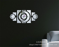 kxc-074 mute wall clock DIY personalized watches upscale living room mirror wall stickers acrylic wall clock