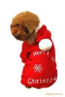 Factory outlets Pet clothing , winter pet dog COAT with cap, Hoodies X-MAS Design Thick & soft Coral velvet  XS-XL 20/LOT