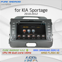 HEPA Pure Android 4.2 A10 chipset multi-touch screen car DVD for KIA SPORTAGE R 2010-2012  with Free map