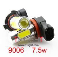Wholesale 9006 hb4 7.5W Car LED Fog Lamp Automobile Light Bulbs Wedge High power fog light