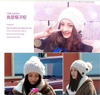 2014 Hot New female Hat winter for women in women's Beanies Button Twisted Knitted cap Knitting Warm Hat NV172