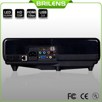 Brilens 1280*768 led Projector LCD projector 2500 lumens 2014 new contrast 3000:1 home theater mini projector data show