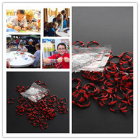 Free Shipping High Quality for Kid's Craft 600pcs Black & Red Rubber Bands 24 S-Clips Hook Refill Loom Kit  EJ671600