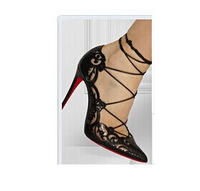 Fashion Impera Laser Cut Pumps white high heels gladiator thin heel lace up pointy toe summer shoes ankle wrap sexy sandals