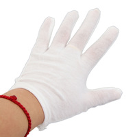 New Hot Sale High Quality  Pure Cotton Protective Gloves Lightweight Comfortable washable  White