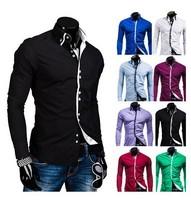 Mens Dress Shirts Camisas Social Slim Fit Masculina Long Sleeve Imported Shirt Blusas Masculinas Casual Men Fashion Polo Brand