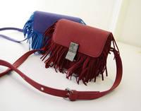 2014 New Winter Tassles Shoulder Bag Diagonal Retro Matte  Packet Messenger Bag Free Shipping