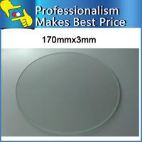 Free shipping mini 3d printer Borosilicate Glass plate 170mm 3mm thick Boro Glass top for Rostock delta KOSSEL
