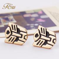 2014 New Arrival Luxury Brand Punk Style Gold Metal stud earrings earrings For Women #1224