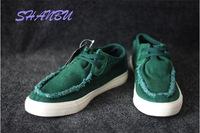 Washed canvas shoes breathable car suture Korean Men's casual shoes Men flat shoes