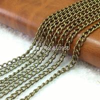 Vintage Clasp Necklace , Antique Bronze Long: 80CM 5*3.5mm Oval Chain Iron Chain,Jewelry chain Necklace 20PCS
