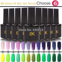 Choose 6pcs/Set For Nail Gel Polish,300 Sweet Colors Soak Off UV/LED Lamp Shellac Varnish Gel Lacquer Nail Tools