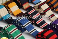 L03 FREE SHIPPING FASHION New men's wool knit tie casual Korean flat head tie 5cm narrow knitted tie