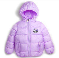 New 2014 Hello Kitty Girl's Winter jackets hooded children's Coats winter warm Outerwear & Coats, Children's winter coat.