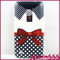 New Fashion Blue Dot Bowknot Clothes Hard Case Cover Skin For Nokia Lumia 530
