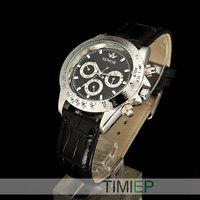 Fashion Black Dial Men's Automatic Mechanical Calendar Mens Dress Watches Men NEW