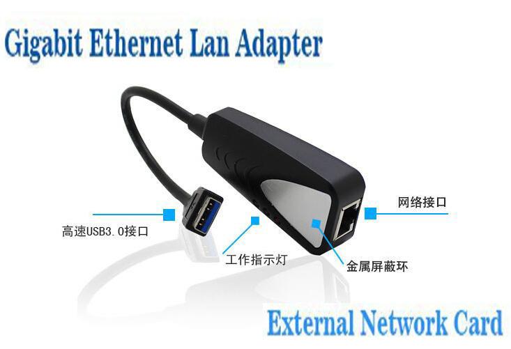 10PCS USB 3.0 Gigabit Ethernet RJ45 External Network Card LAN Adapter 10/100/1000Mbps usb 3.0 lan adapter For Windows Mac Linux(China (Mainland))
