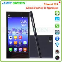 """Original Xiaomi Mi3 Mi 3 M3 3G Smartphone Snapdragan 800 Quad Core 2GB RAM 16GB ROM 5.0"""" IPS 1920x1080 2.0MP+13.0MP Camera GPS"""