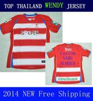 Granada Futbol A+++ 2014 New ARRIVAL 14 15 RED Soccer Jersey Futbol Shirt Espa camisetas Camiseta