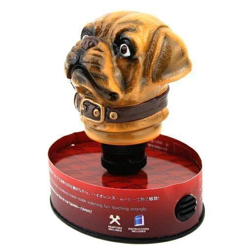 NEW Brown Ceramic Dog Head Shape Gear Shift Knob for Auto Car(China (Mainland))