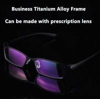 2015 I-bright Super light TR90 Classic Business Titanium alloy Frames Men's Formal Prescription Glasses Optical Eyewear