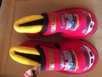 2014 NEW ARRIVAL fireman sam indoor shoes little boy room slippers winter warm shoes 1 PAIR free shipping