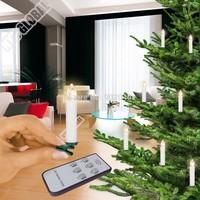 Kostenloser Versand (DHL) 40er Ser LED Kabellose Weihnachtskerzen Christbaumkerzen Weihnachten Christbaumschmuck Lichterkette FB