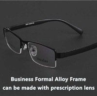 I-bright Metal alloy Business Casual Men's Semi-rimless Glasses frame Myopia Presbyopia frame Prescription eyewear