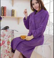 Unisex Women&Men Coral Fleece Loose Long Sleepwear Robes Bathrobe Spa #8 Colors