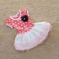 Kid Girls Polka Dot Tutu Dress Baby Toddler Ruffle Tulle Dress Clothes Dot Dress